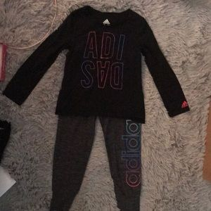 Girls 6 adidas outfit